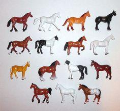 Vintage 1988 Funrise PVC Horse Figure Set of 15 #horses #actionfigures #toys