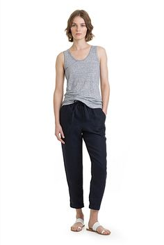 Twill Linen Pant