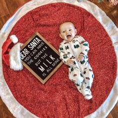 Letter boards, baby, first Christmas, breastfed Monthly Baby Photos, Cute Baby Photos, Baby Pictures, First Christmas Photos, Babies First Christmas, Holiday Photos, Newborn Christmas, Christmas Baby, Merry Christmas