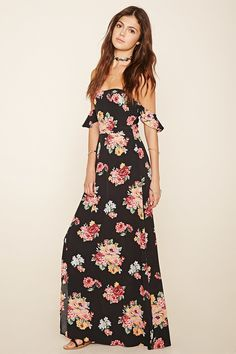 Floral Off-The-Shoul