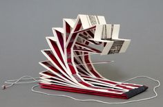 Lace Flounces - Side view Annwyn Dean 2015 Artist's Book, Book Art, Notebooks, Journals, Illustration Art, Illustrations, Book Sculpture, Paper Book, Book Format