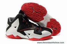 Nike LeBron 11 626374-001 Miami Heat Away Black White Red Online