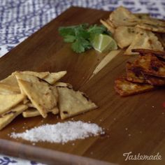 one chip when you can make salt, cilantro-lime and soy-Sriracha chips ...