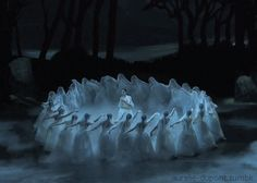 … ghost brides (the Wilis) from Giselle … beautiful