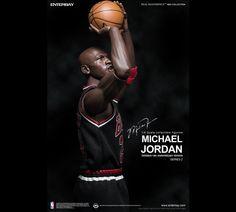 #MichaelJordan Series 2 #Enterbay 8th #Anniversary #Edition #NBA #23 #Figurine #TeamUSA #BlackJersey #LimitedEdition #Basketball #Legend #EnterbayUSA