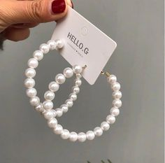 Fashion Simulated Pearl Statement Big Small Hoop Earrings for Women Exaggerate Circle Earrings Personality Nightclub Jewelry Jewelry Design Earrings, Ear Jewelry, Cute Jewelry, Beaded Jewelry, Jewelery, Jewelry Accessories, Fancy Jewellery, Stylish Jewelry, Fashion Jewelry