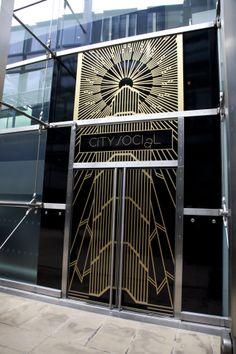 City Social Entrance - London #JasonAtherton #CitySocial #restaurant #Tower42