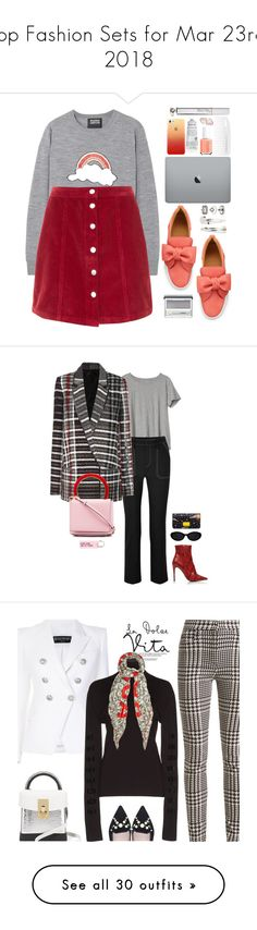 """Top Fashion Sets for Mar 23rd, 2018"" by polyvore ❤ liked on Polyvore featuring Markus Lupfer, BUSCEMI, PENHALIGON'S, Clinique, Adia Kibur, Miss Selfridge, Essie, CYLO, Kjaer Weis and Gap"