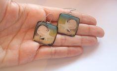 Colorful girl earrings earrings for girls Sparkle by MoodStory