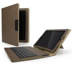 Cygnett Lavish Connect Folio Stand Case for iPad2/3/4 + Bluetooth Keyboard - Sandstone morefrom