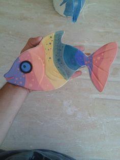 Ceramic fish. Underglaze