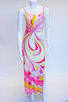 Vintage Pucci with scoop back and side slit - $475
