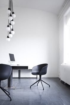 Empty open office, a giant table, a generous window and pretty lighting. / It's all I ever need.
