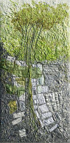 Trembling Aspen - Lorraine Roy, textile artist from Dundas, Ontario, Canada