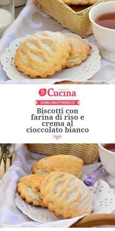 #Biscotti con farina di riso e crema al #cioccolato bianco