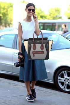 Celine Luggage Grey Calfskin Satin Handbag Multicolour