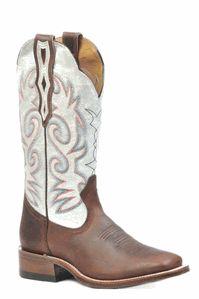 White Square Toe Boots