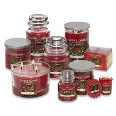 Red Apple Wreath Yankee Candles = Winter Obsession
