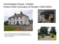 Cloonshease House, Home of the Corcorans of Clonfert 17th Century, Ireland, Mansions, House Styles, Places, Home, Fancy Houses, Irish, Haus