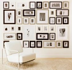wall of frames organized wall of frames