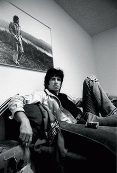 Keith Richards on the couch Picture by Ken Regan