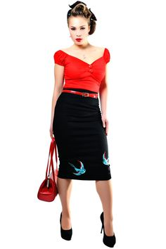 Helga Skirt Swallow Black