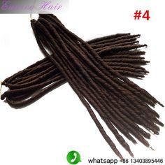 "Janet Collection 2X Havana Mambo Twist Dread Faux Locs Braids Crochet Hair 14"" 18"" dread faux locs braids(3packs)"