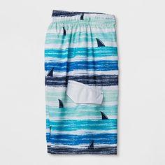 8045ecd4c Boys' Shark Fin Stripe Swim Trunks - Cat & Jack Blue XL Shark Fin