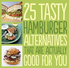 25 Tasty Hamburger Alternatives That Are Actually Good For You