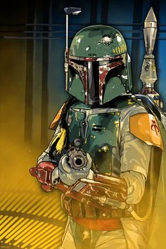 Boba Fett in Carbon Freezing Chamber from Star Wars Episode V - by Brian C. Roll