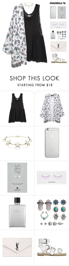 """""""Hot Coachella Style"""" by fxshionableness ❤ liked on Polyvore featuring Étoile Isabel Marant, Givenchy, Native Union, Dogeared, shu uemura, Hermès, Mudd, Yves Saint Laurent and Kendall + Kylie"""
