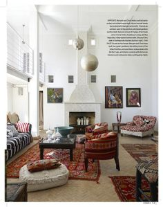 Maryam  and Chris' Atlas Pavillion in Morocco - I just love this room, especially the colours