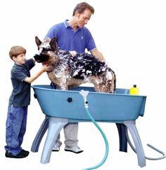 Elevated Dog Bath Grooming  Indoor / Outdoor...need this!