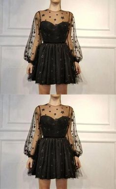 Spaghetti Straps Homecoming Dress,Sexy Black Short Party Dress The most beautiful and newest outfit Elegant Dresses, Sexy Dresses, Dress Outfits, Vintage Dresses, Short Dresses, Fashion Dresses, Formal Dresses, Wedding Dresses, Pretty Dresses