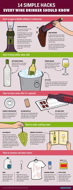14 Wine Hacks #wine #wineeducation #winetasting