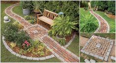 Front Yard Garden Design Build a Brick Pathway in the Garden