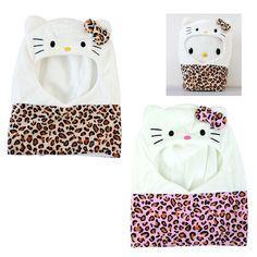 Hello Kitty Face Neck Warmer Hat Hood Cute Girls Cap Cosplay Costume Lovely #HK