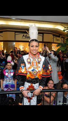 First Nations Actress and Motivational Speaker Ashley Callingbull. At Edmonton West Edmonton Mall Callingbull is from the Enoch Cree Nation in the province of Alberta.