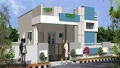 House elevation images in hyderabad - House interior Single Floor House Design, House Front Design, Front Elevation Designs, House Elevation, Dream House Plans, Modern House Plans, Indian House Plans, Independent House, Compact House