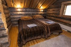 Levin Pesä B, in Levi, Lapland Luxury Log Cabins, Cottage Interiors, Bed, Furniture, Home Decor, Decoration Home, Stream Bed, Room Decor, Home Furnishings