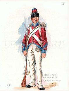 Caporale dei fuciliere della 25 mezza brigata di fanteria di linea francese in Egitto