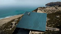 Mirage House by Kois Associated Architects Unique Rooftop Infinity Pool Floating Above Unspoiled Greek Island Scenery