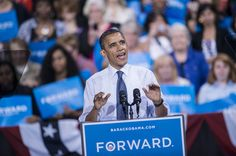 President Barack Obama speaks during a campaign event at George Mason University in Fairfax, Va.