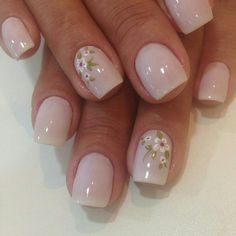 105 splendid french manicure designs classic nail art jazzed up -page 6 > Homemytri. Flower Nail Designs, Nail Art Designs, Fancy Nails, Pretty Nails, Precious Nails, Milky Nails, Bridal Nails, Stylish Nails, Flower Nails