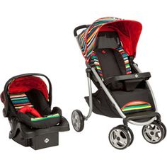 Safety 1st SleekRide Travel System, London Stripe