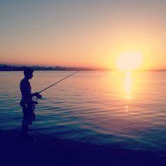 Pescatore al tramonto (Molo di Rimini) #TA13