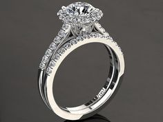 Foever One 1.00 Carat Moissanite And Diamond Halo Engagement
