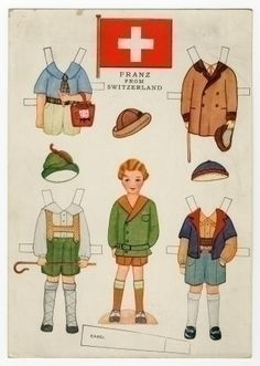78.6431: Little Americans from Many Lands-Franz from Switzerland | paper doll | Paper Dolls | Dolls | Online Collections | The Strong