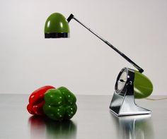 Midcentury Egg or Bullet Desk Lamp, Mid Century Modern Space Age Design. Hamilton Industries, Telescoping Arm.. $125.00, via Etsy.