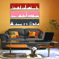 Midtown Girl Decor: New York Paris London Triptych Canvas by ModernCanvas - def getting this! #nyc #decor